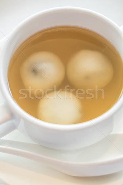 риса жемчуга имбирь суп десерта желтый Сток-фото © vichie81