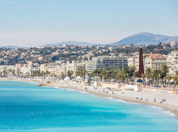 France Nice Mediterranean beach Stock photo © vichie81
