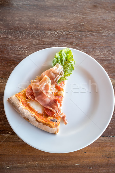 pizza parma ham piece Stock photo © vichie81