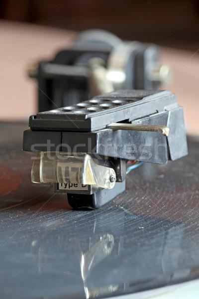 Lemezjátszó közelkép kilátás lp bakelit lemez Stock fotó © vichie81