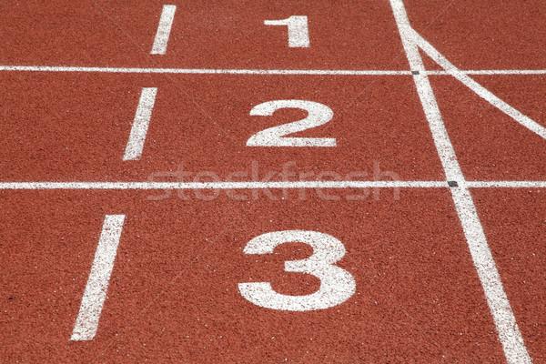 Szám versenypálya textúra sport mező fut Stock fotó © vichie81