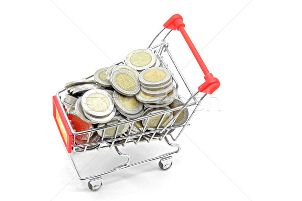 shopping cart with full coins Stock photo © vichie81