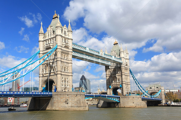 Londres Tower Bridge rio inglaterra Foto stock © vichie81