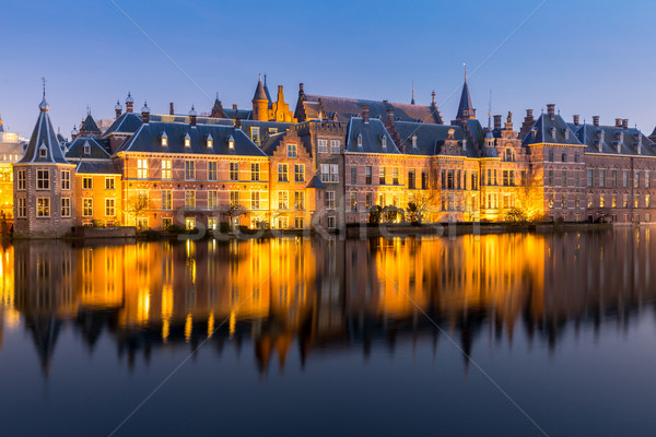 議会 宮殿 場所 オランダ 夕暮れ ビジネス ストックフォト © vichie81