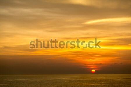 Gün batımı deniz güzel krabi phuket Tayland Stok fotoğraf © vichie81