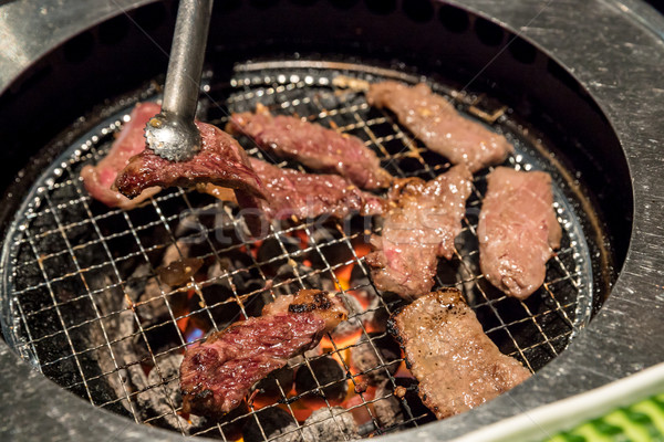 Yakiniku beef grilled Stock photo © vichie81