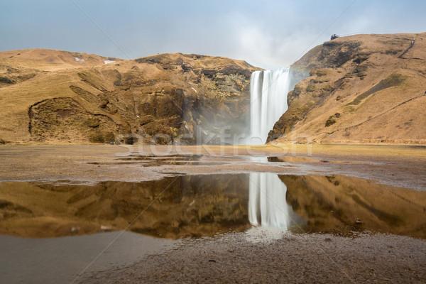 Waterval IJsland zuiden water voorjaar schoonheid Stockfoto © vichie81