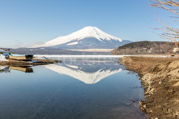 Winter Mount Fuji Yamanaka Lake Stock photo © vichie81