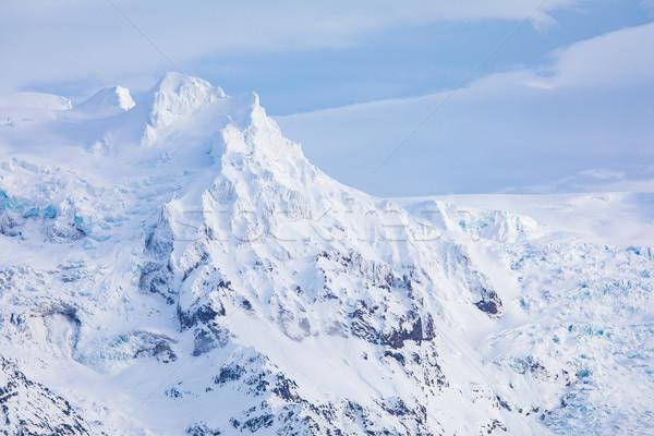 ледник парка Исландия облака природы пейзаж Сток-фото © vichie81