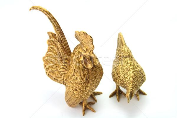 Golden Chicken Stock photo © vichie81
