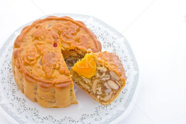 Lua bolo chinês tradicional sobremesa outono Foto stock © vichie81