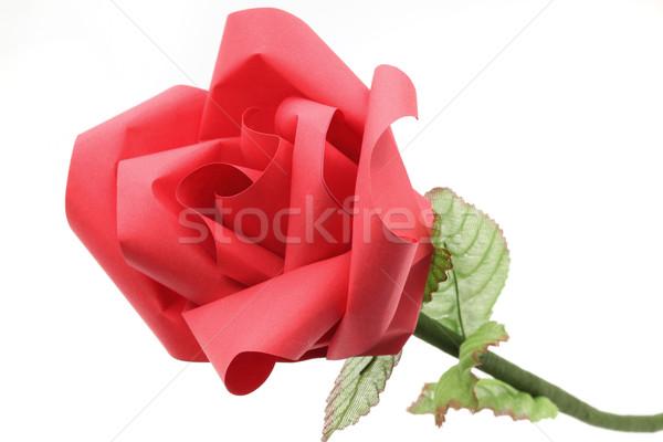 rose fleur papier blanche fond art photo stock vichaya kiatying angsulee vichie81. Black Bedroom Furniture Sets. Home Design Ideas