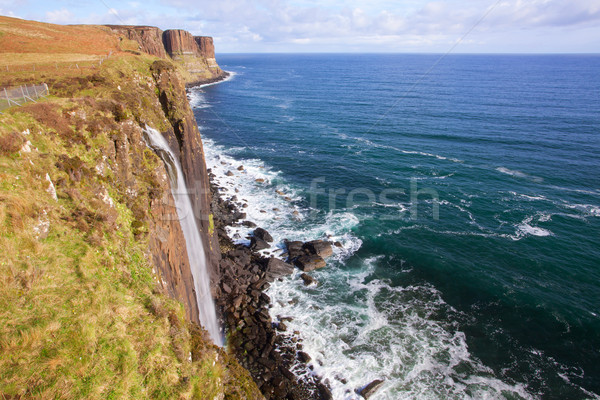 Kilt Rock Waterfall Scotland Stock photo © vichie81