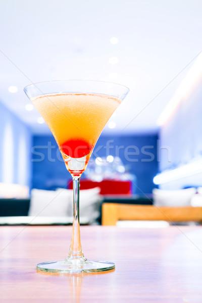 Cereja coquetel copo bar comida vidro Foto stock © vichie81