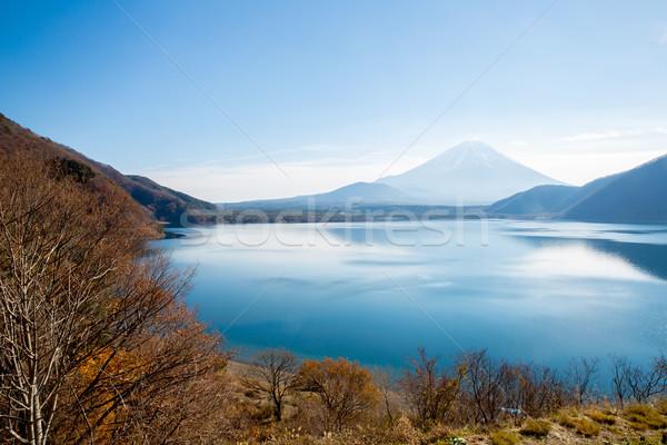Fuji Dağı Japonya dağ fuji göl gökyüzü Stok fotoğraf © vichie81