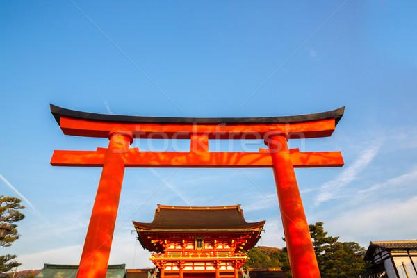 Santuario kyoto Giappone cielo estate religione Foto d'archivio © vichie81