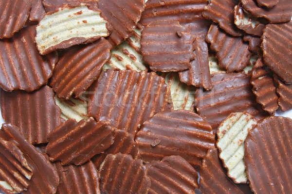 Ridged Potato Chips Background Stock photo © vichie81
