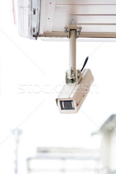 Cctv camera bewakingscamera detailhandel winkel straat Stockfoto © vichie81