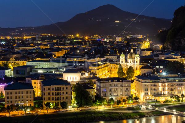 Autriche nuit belle vue historique ville Photo stock © vichie81