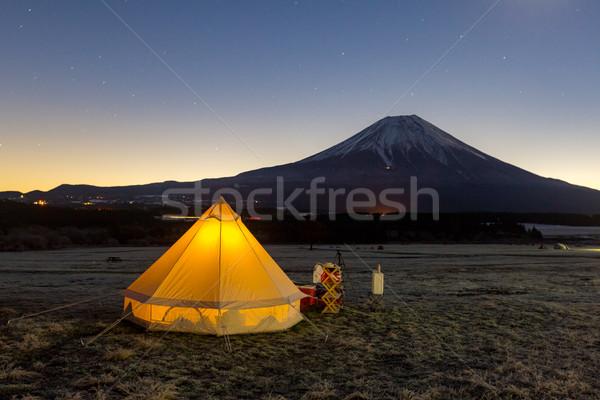 Fuji camping montanha Japão água paisagem Foto stock © vichie81