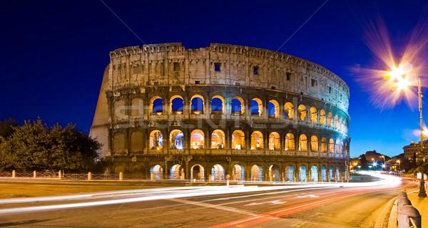 Rzym Włochy noc świetle zmierzch Zdjęcia stock © vichie81