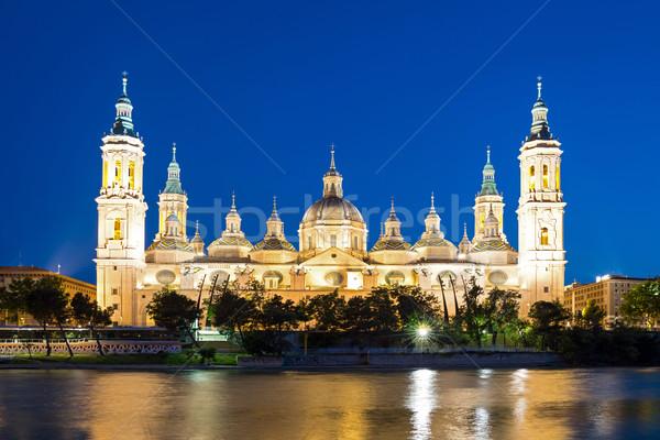 Basilica Cathedral Zaragoza Spain Stock photo © vichie81
