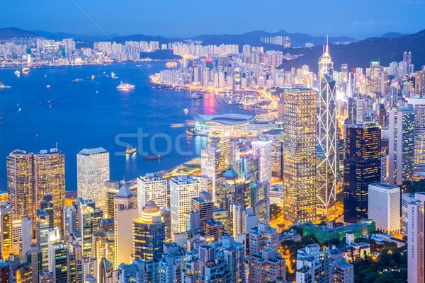 Aerial Hong Kong Cityscape  Stock photo © vichie81