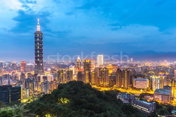 Taipei skyline Stock photo © vichie81