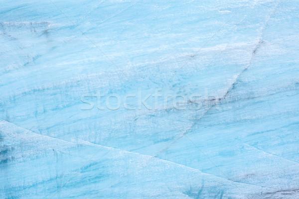 Gleccser Izland hó jég tél kék Stock fotó © vichie81