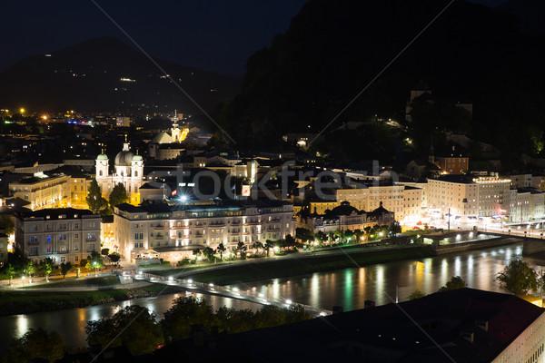 ночь красивой мнение исторический город землю Сток-фото © vichie81