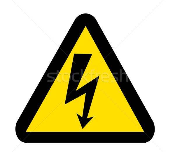 高電圧 シンボル にログイン 危険 孤立した 白 ストックフォト © vichie81