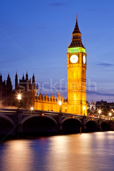 Big Ben horloge tour westminster pont Londres Photo stock © vichie81