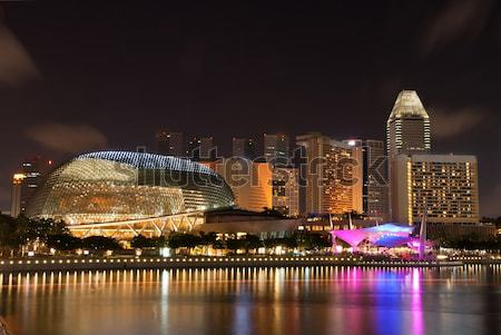 Panorama of Singapore skyline Stock photo © vichie81