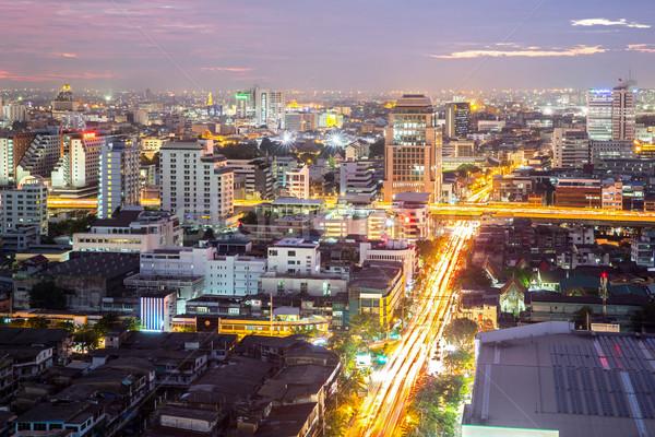 バンコク タウン ビジネス 空 オフィス ストックフォト © vichie81