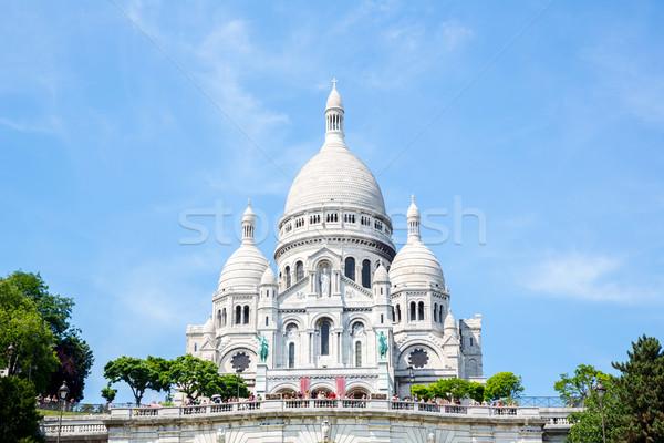 Montmartre Párizs Franciaország nyár kilátás katedrális Stock fotó © vichie81