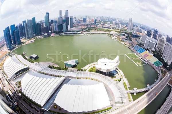 Aerial View of Singapore Stock photo © vichie81