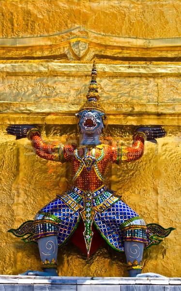 Guardião estátua templo palácio um turismo Foto stock © vichie81