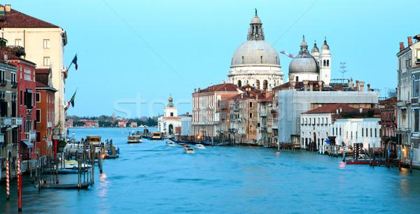 Panorama of Grand Canal Venice Stock photo © vichie81
