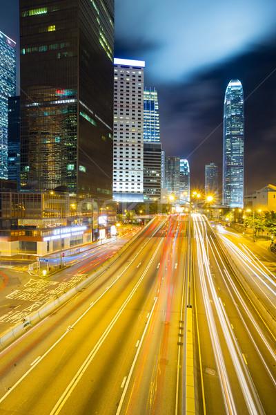 Hong Kong Skyline night Stock photo © vichie81