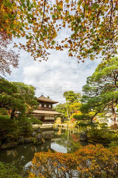 Tempio kyoto argento Giappone acqua albero Foto d'archivio © vichie81