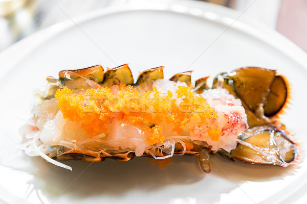 ıstakoz sashimi Japon mutfak gıda deniz Stok fotoğraf © vichie81