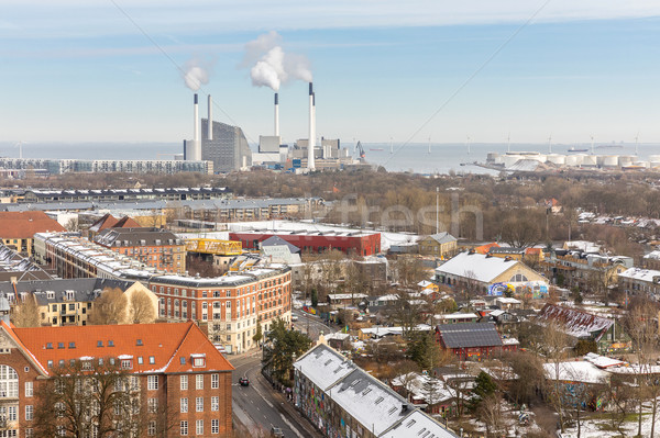 Копенгаген Дания воды здании морем Сток-фото © vichie81