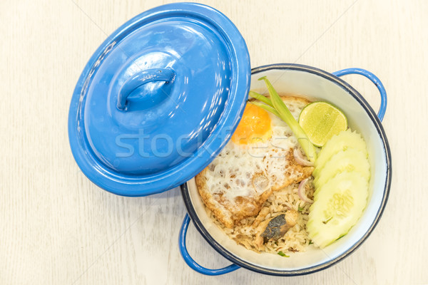 Fried rice with mackerel Stock photo © vichie81