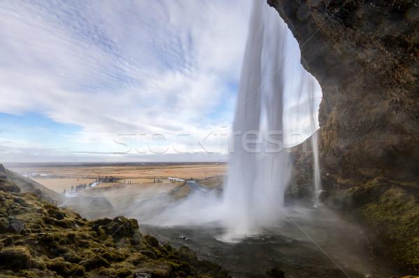 Seljalandsfoss waterfall Iceland Stock photo © vichie81