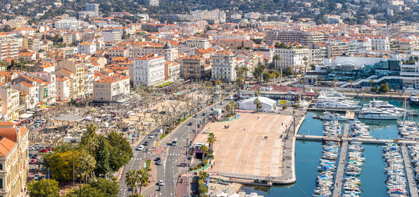 aerial view of Cannes France Stock photo © vichie81