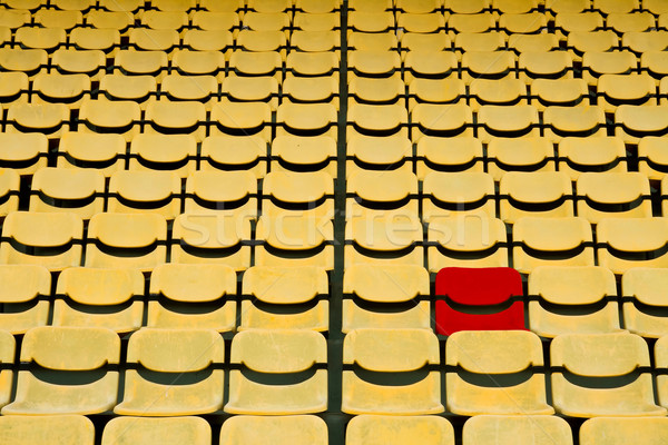 red seat in Yellow Seat Pattern in Football Stadium Stock photo © vichie81