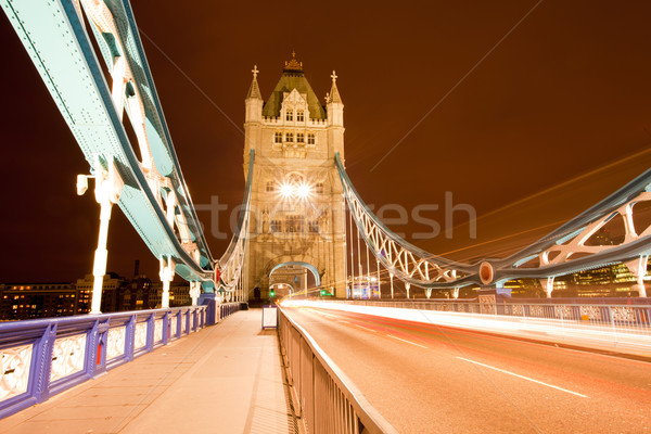 Tower Bridge gece İngiltere Büyük Britanya köprü Avrupa Stok fotoğraf © vichie81