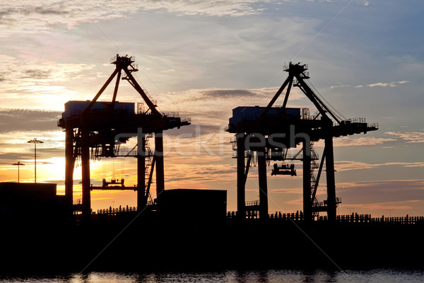Port Sunrise Stock photo © vichie81