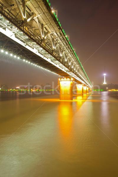 Wuhan Yangtze river bridge Stock photo © vichie81