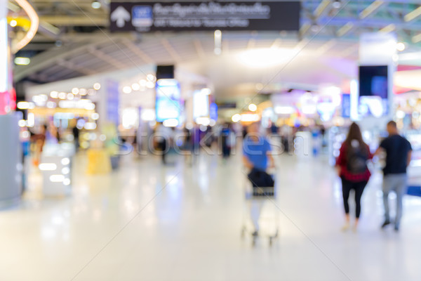 airport boarding area Blurred background Stock photo © vichie81